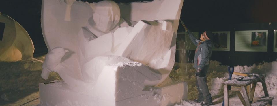 Dokumentär: Snöskulpturfestival i Orsa Grönklitt